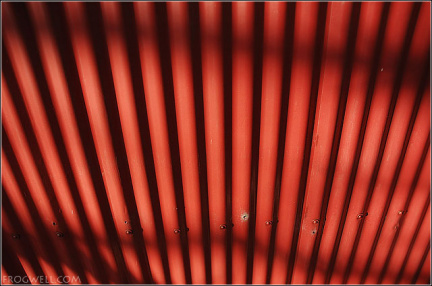 Corrugated shed wall