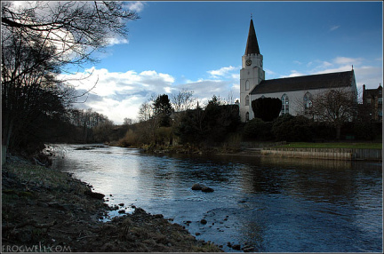 River Earn and the White Church, Comrie