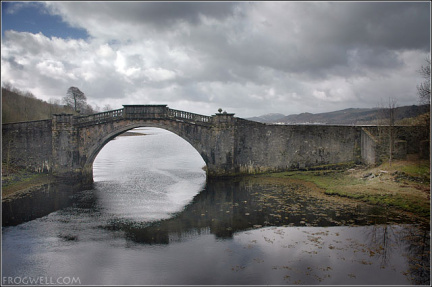 Disused bridge at the head of Loch Shira.
