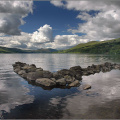 Looking West along Loch Tay from Fearnan