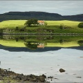 Derelict house across Loch Dunvegan from Kinloch camp site.