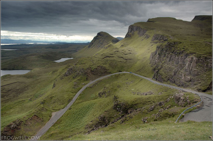 Cleat, Dun Dubh and Druim an Ruma.  Looking South from Quiraing.