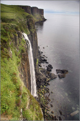 Waterfall and Kilt Rock.