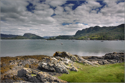 The bay at Plockton going out to Loch Carron.