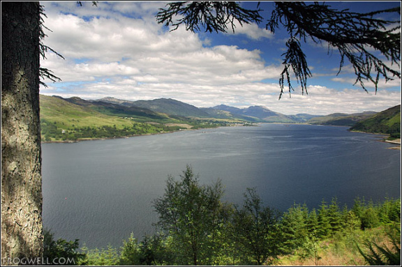 Loch Carron from above Stromferry.