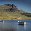 Looking over Loch Leathan to The Storr and the Old Man of Storr, Isle of Skye