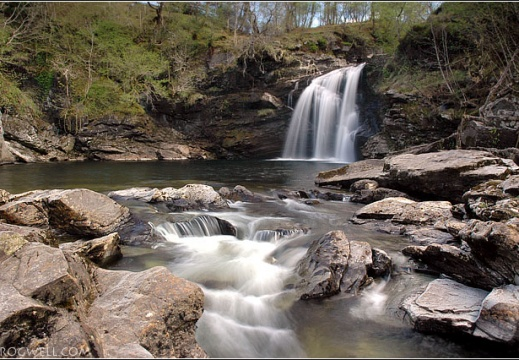 The Falls of Falloch on the River Falloch which runs into Loch Lomond