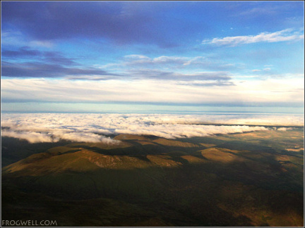North Perthshire from a microlight at 5000 feet.