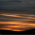 Sunset over the Braes of Doune windfarm.