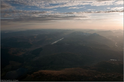 North Trossachs from the air