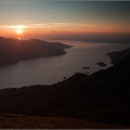 Sunset over the Sound of Sleat from Beinn na h-Eaglaise