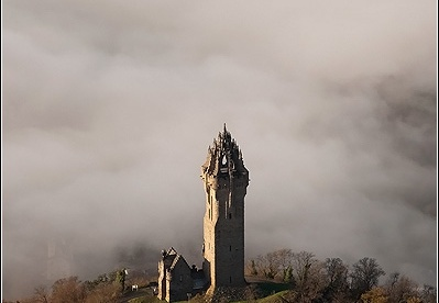 Aerial photo of the Wallace Monument