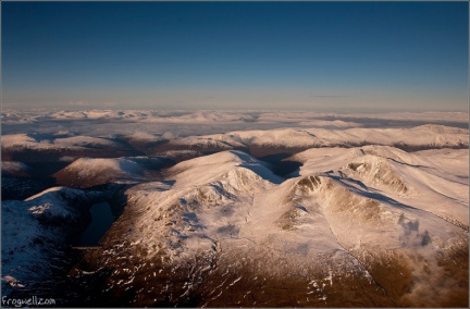 Ben Lawers range from the air