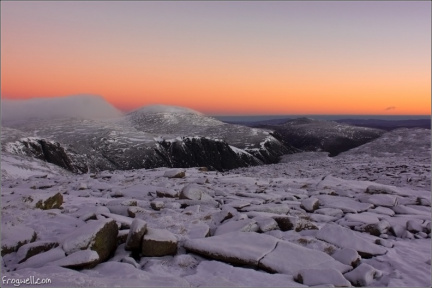 Cairgorm before sunrise from Ben Macdui