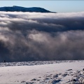 Low cloud filling the Lairig Ghru
