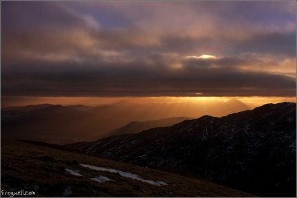sunset from Meall Corranaich