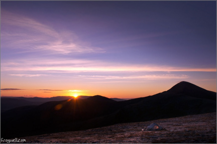 Sunrise from the summit of Meall a' Chrasgaidh