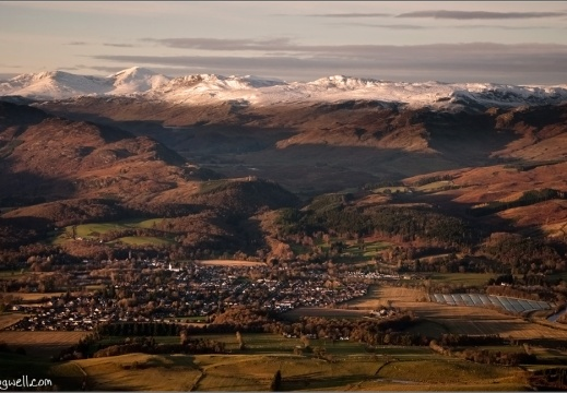 Comrie from 2500 feet. 22/11/2015