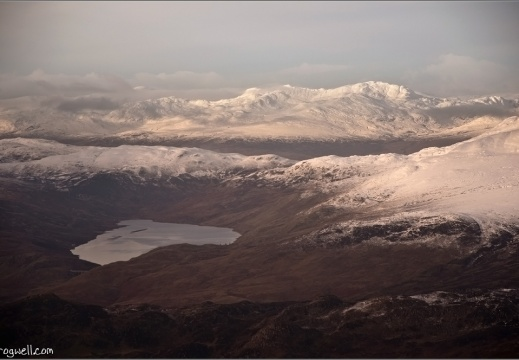 Loch Lednock from the air