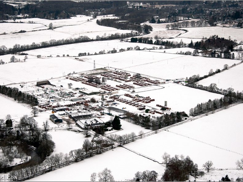 Cultybraggen Camp from the air