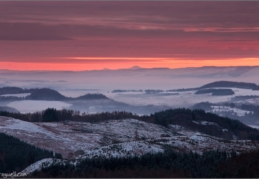 Sunrise above Comrie