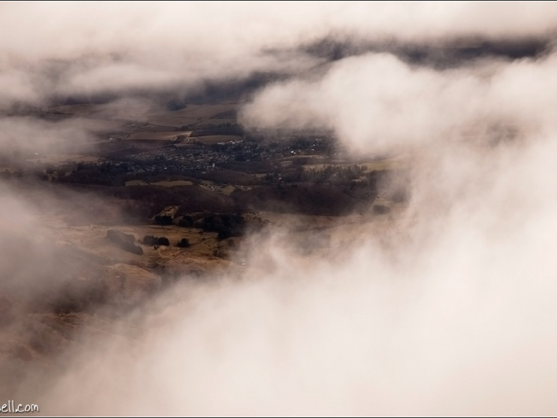 Comrie through the clouds