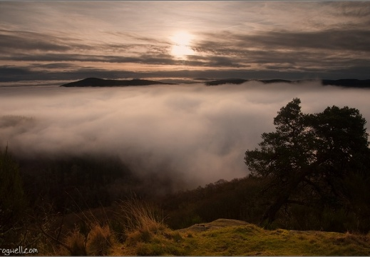 Cloud inversion over Comrie from Lord Melvilles Monument