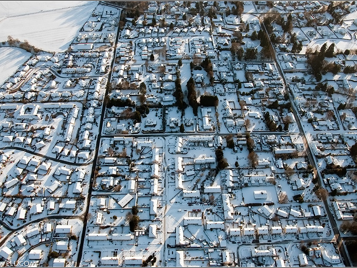 Comrie in Winter from above