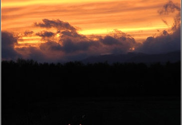 Sunset over Comrie