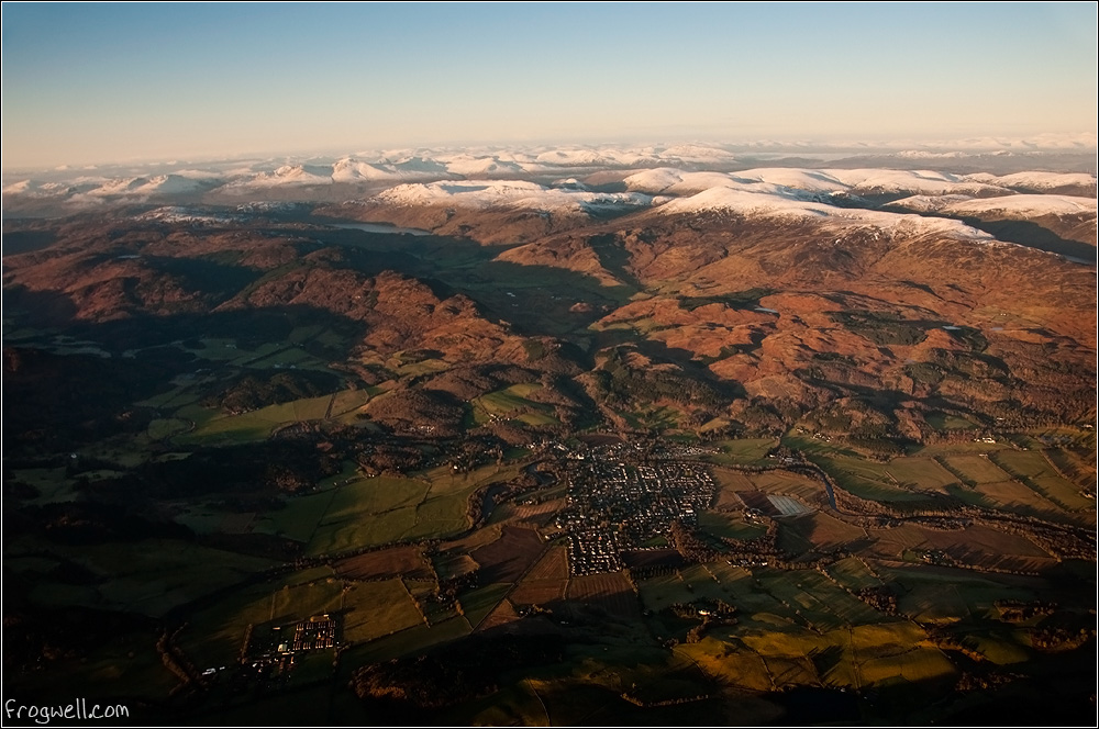 Comrie from 8000 feet